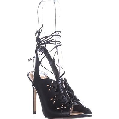 3b9481d84a Amazon.com | MICHAEL Michael Kors Women's Thalia Sandal Black Vachetta 6 M  US | Heeled Sandals