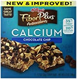 FiberPlus Antioxidant Bars, Chocolate Chip, 5-Count Bars 1.2 oz(Pack of 12)