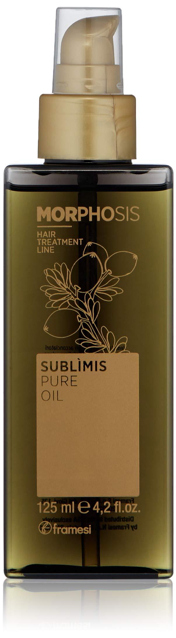 Framesi Morphosis Sublimis Pure Oil - 4.2 Ounce, Color Safe Argan Oil for Hair, Protective Argan Oil for Dry Hair, Hair Treatment, Vegan, Gluten Free, Cruelty Free