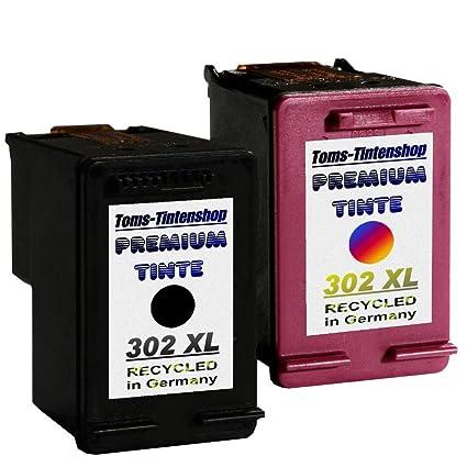 2 Cartuchos de impresora compatible para HP 302/302 x l Black + ...