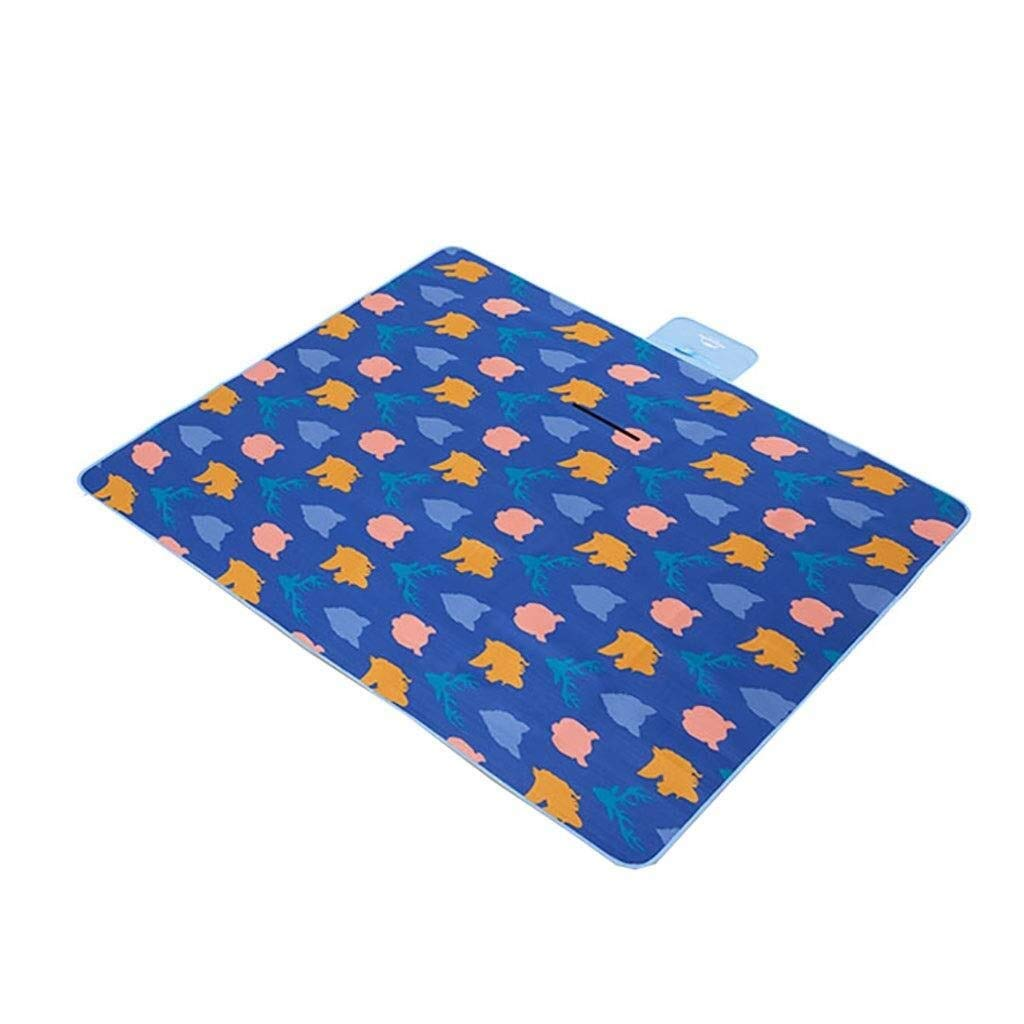 ZKKWLL Picnic Blanket Folding Picnic Blanket Fleece Waterproof Backing Travel Picnic Rug Outdoor, Beach, Camping with Handle Beach mat by ZKKWLL