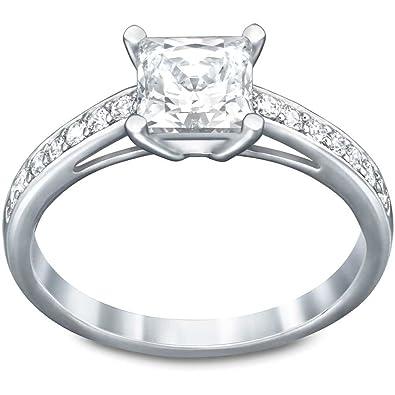9442e827f Swarovski Attract Square Ring: Amazon.co.uk: Jewellery
