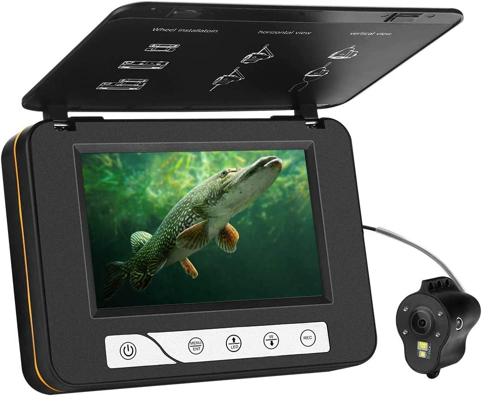best underwater fishing camera: Moocor 3.5 Inch Portable Underwater Fishing Camera