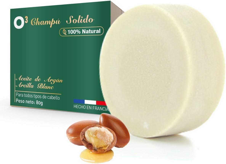 O³ Lola Nature Champu Solido 100% Natural - Champú Solido 80g Hecho En Francia - Jabon Natural Para Lavar El Cabello