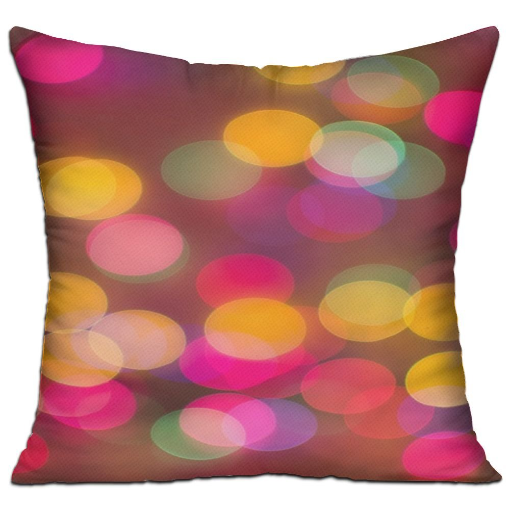 Abstract Blur Lights Bokeh Color Cozy Sofa Pillow 18in X 18in (Including Pillow Inside)