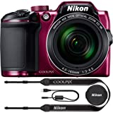 Nikon COOLPIX B500 16MP 40x Optical Zoom Digital Camera w/Wi-Fi (Plum) - (Renewed)