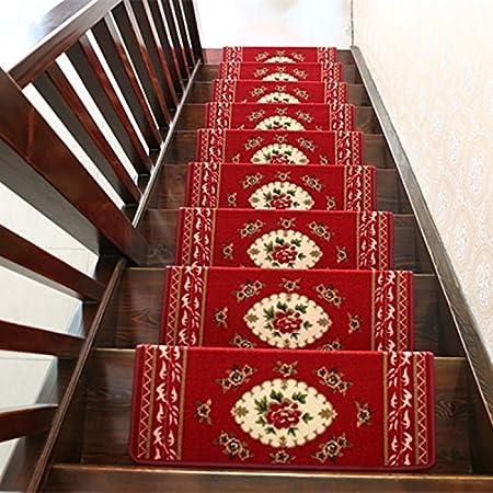 DADAO-Peldaños de escalera, escalera de mat alfombra, pie de notas, alfombrilla antideslizantes, autoadhesivo,100*24cm,D: Amazon.es: Hogar