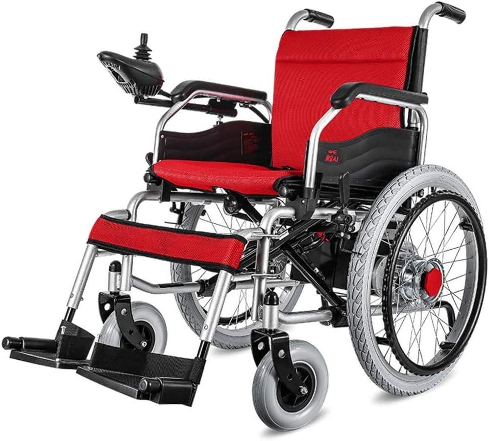 Silla de ruedas eléctrica inteligente ACEDA, plegable ligera, ancho del asiento 45 cm, admite 100 kg, batería de litio de 12 Ah, sillas de ruedas motorizadas El reposabrazos se puede levantar