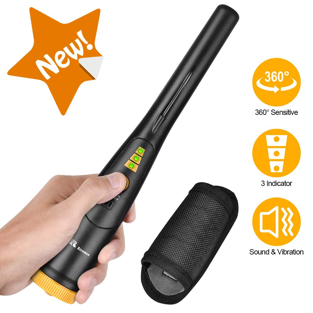 RM RICOMAX Pinpointer Metal Detector - Portable Metal Detector Waterproof 2019 New [3 LED Range Indicators & Buzzer Vibration Sound] Treasure Hunt Pinpoint Metal Detector for Adults & Kids Lightweight by RM RICOMAX