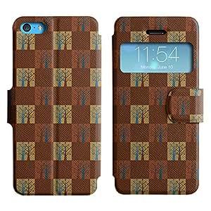 LEOCASE árbol lindo Funda Carcasa Cuero Tapa Case Para Apple iPhone 5C No.1003273