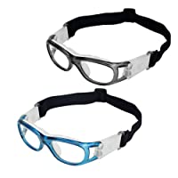 Elemart(TM) 2 PCS Kids Sport Glasses - Adjustable Anti-fog Protective Children Safety Goggles for Basketball Football Hockey Rugby Baseball Soccer Volleyball