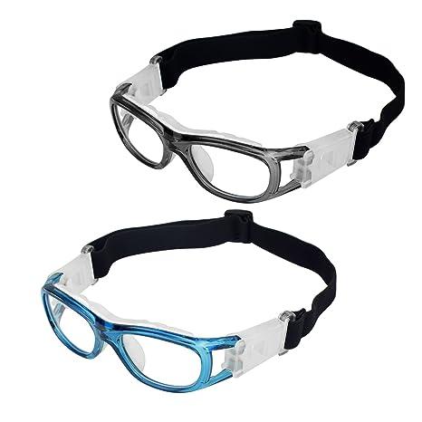02aac523447b Elemart(TM) 2 PCS Kids Sport Glasses - Adjustable Anti-Fog Protective  Children