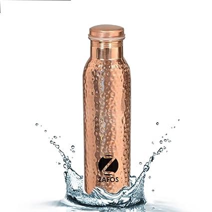 Amazon.com: zafos Cobre botella de agua para Yoga o termo ...