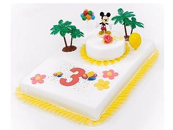 Tortendeko 3 Geburtstag Mickey Mouse 11 Teilig Tortenaufleger Kuchen
