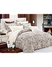 Shacha Quilt Cover Set, 3 Piece Duvet Cover Set Includes 2 Pillowcases, Doona Cover Set M246 (King Size)