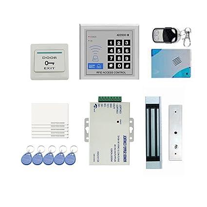 KKmoon Kit RFID Control de Acceso para Puerta 180kg/396Lbs + Cerradura Magnético Electrónica +