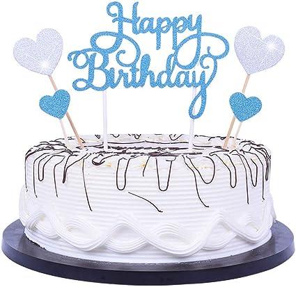 Amazon.com: YUINYO - Decoración para tartas de cumpleaños ...