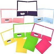 JAM Paper Two Pocket Glossy Presentation Folder - Yellow - sold individually