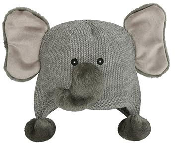 Amazon.com  Stephan Baby Grey Elephant Infant Knit Hat (6-12 Months ... 0e6af79eb37
