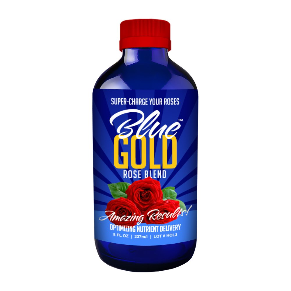 Blue Gold Rose Flower Bloom Booster Root Stimulator Triacontanol Concentrate. Guaranteed Results. Natural Rose Pest Control, Fungicide, Blight, Rosette, Black Spot, Root Rot. Reduce Rose Fertilizer.