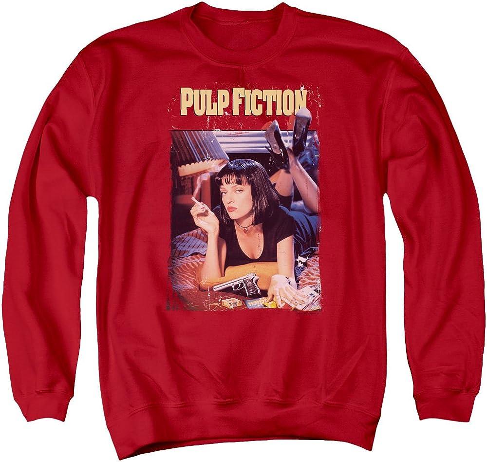 Pulp Fiction Poster Unisex Adult Crewneck Sweatshirt for Men and Women