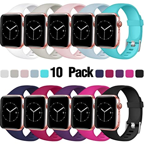 hot sale online 711ad 517fe Haveda Sport Bands Compatible for Apple Watch 40mm 44mm 38mm 42mm,  Waterproof Wristband Replacement for iWatch, Apple Watch Series 4, Series  3, Series ...