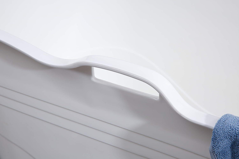 schw/änlein Petite Baignoire Plastique Adulte de Douche Grande Baignoire Mobile Bassin Petite Baignoire pour Adultes 123cm * 51cm Non Gonflable) (Non Pliable Blanc