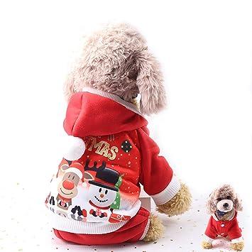 Amazon.com: Aprobu - Disfraz de Papá Noel para mascotas ...