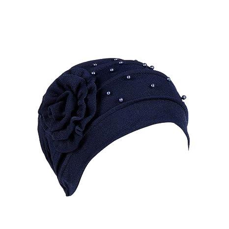 Elegantes Sombreros y Gorras de Mujer Musulmana Flores Tapa del Turbante  Cáncer Chemo Beanie Bufanda Turbante Gorras  Amazon.es  Ropa y accesorios 77ad939db725