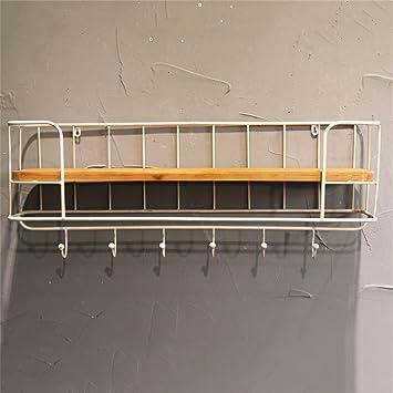 Metallregal weiß wand  An der Wand befestigte Metallregal-Gestelle, europäischer Retro ...