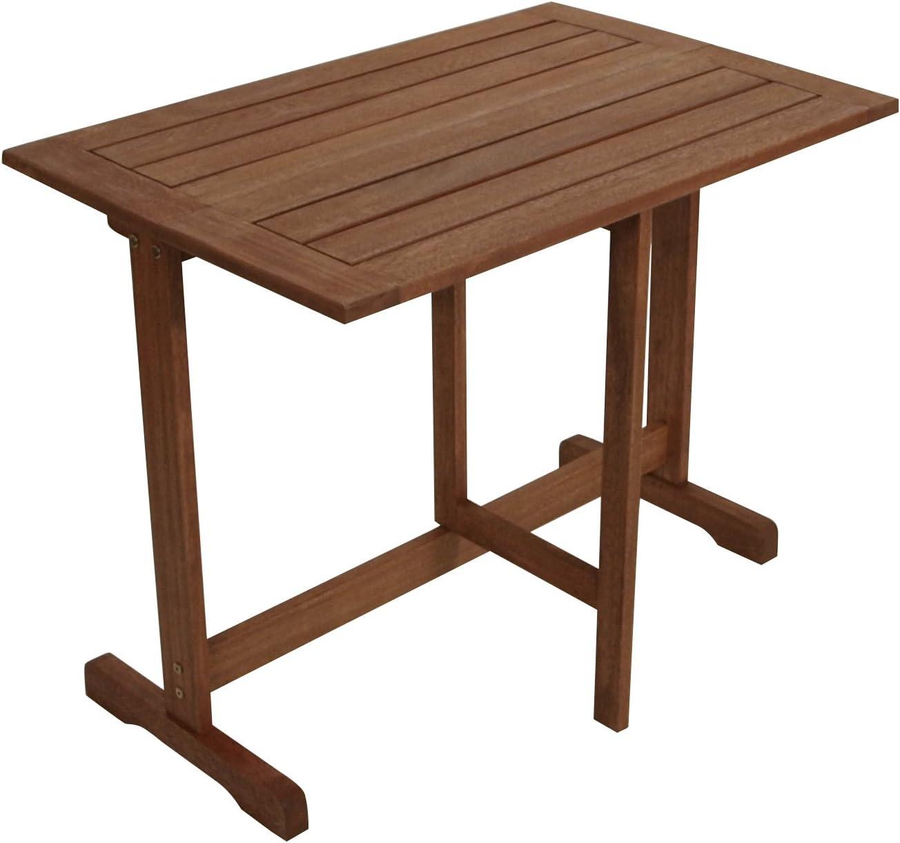 gartenmoebel-einkauf Klappentisch halbrund 90x60cm aus Eukalyptus Holz FSC/®-zertifiziert