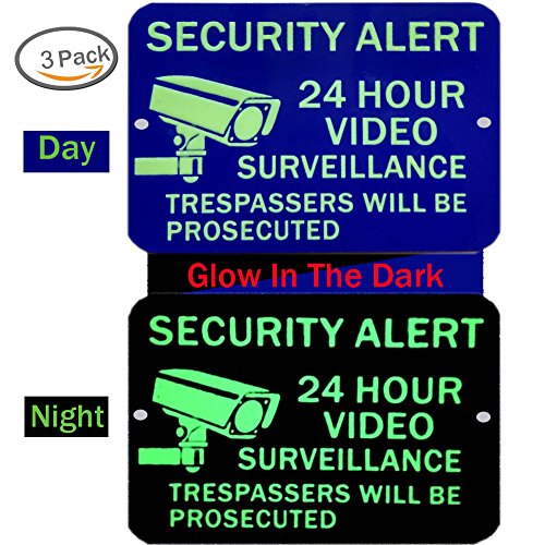 Video Surveillance Sign Glow Self Adhesive product image