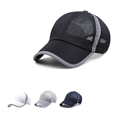 2a517481fe822 Pengge Men and Women Baseball Cap Quick Drying Mesh Breathable Fishing  Running Visor Cycling Sun Hat