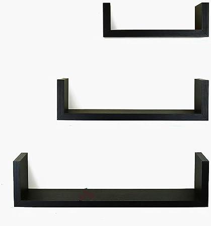 Amazon.com: 3-Piece Wall Shelf Set Hanging Small Wooden Wall Mount ...