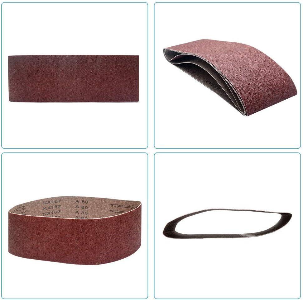 Aluminium Oxide Power-Sander for Woodworking 5Pcs, 320 Grits Belt Sander Metal Polishing SUPERTOOL 75mm x 457mm Sanding Belts