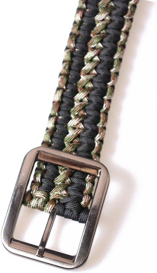 CAMPSNAIL Survival Kit EDC Paracord Belts Metal Buckle Belts for Men