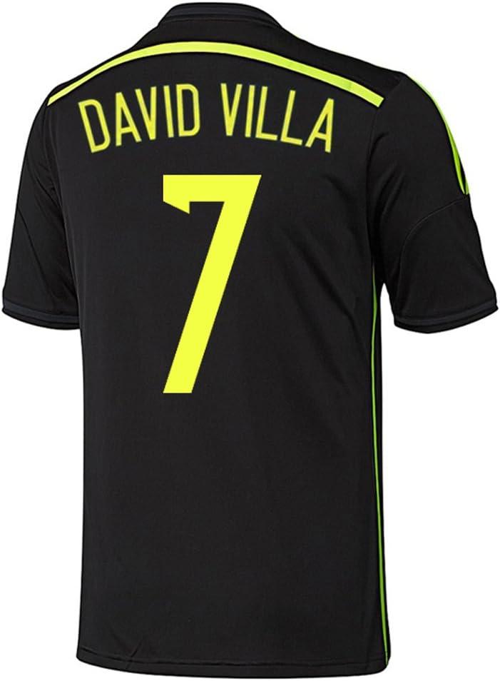 adidas David Villa #7 España Camiseta 2da Copa Mundial 2014 (S): Amazon.es: Deportes y aire libre