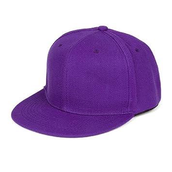 97209f086e4c9 Tongshi Moda Unisex Plain Snapback Hats Hip-Hop ajustable Gorra de béisbol  (Morado)  Amazon.es  Coche y moto