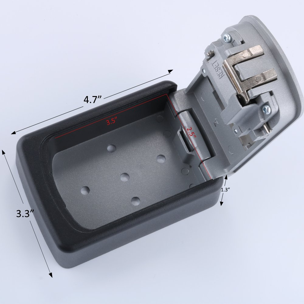Key Storage Lock Box 4-Digit Combination Code Storage Case