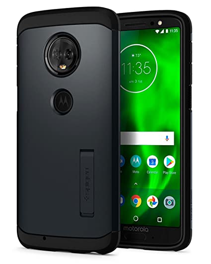 half off ebae0 4c774 Spigen Tough Armor Designed for Moto G6 Case (2018) - Metal Slate