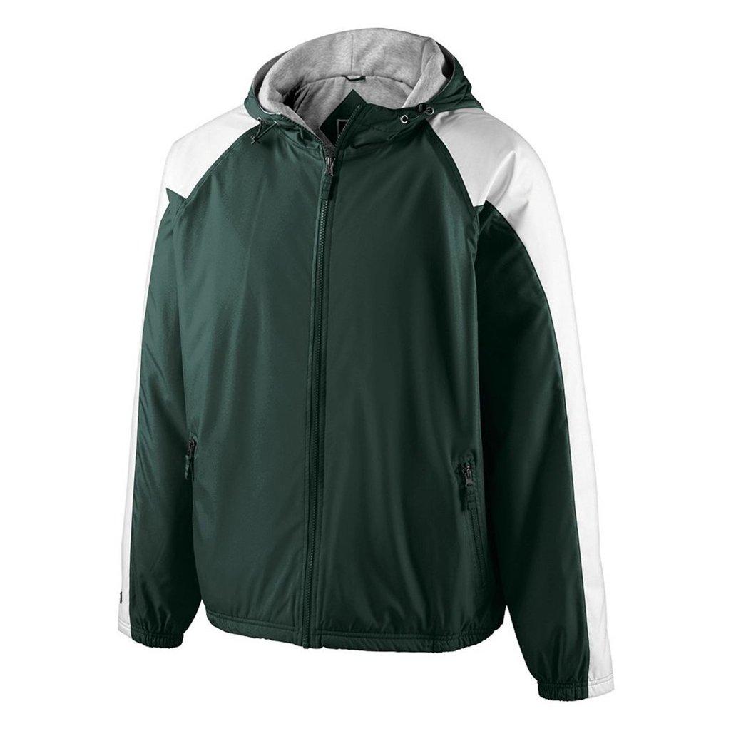 Holloway Youth Homefield Shell Jacket (Small, Dark Green/White) by Holloway