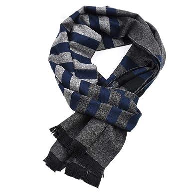 69cf2e47d5e VPASS Winter Men Double-Layer Soft Fleece Infinity Scarf Classic ...
