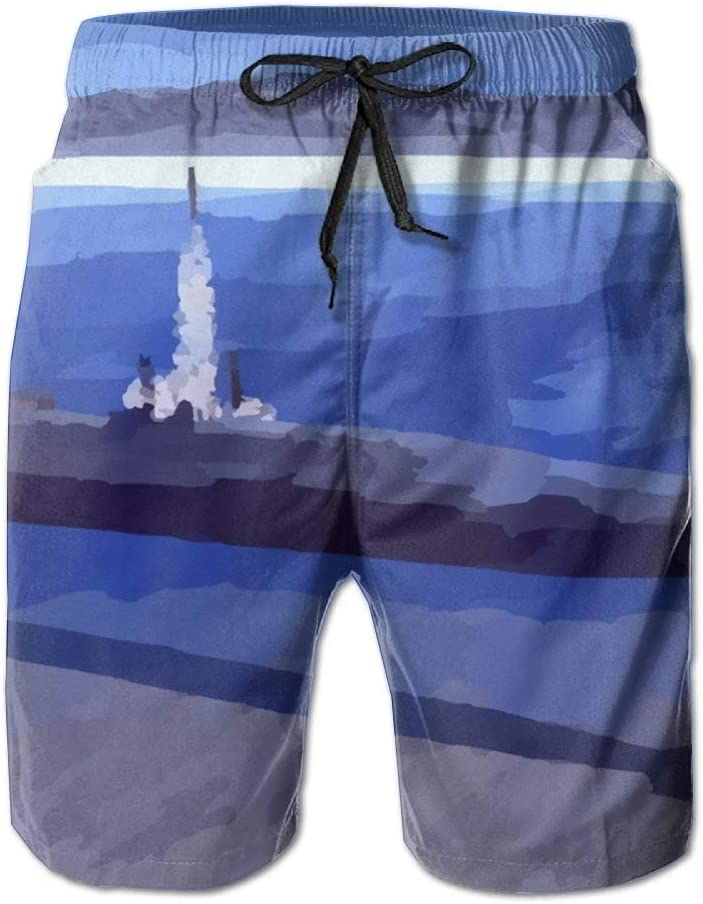 Submarine Mens Boardshorts Not Shrink Running Athletic Shorts Swim Trunks