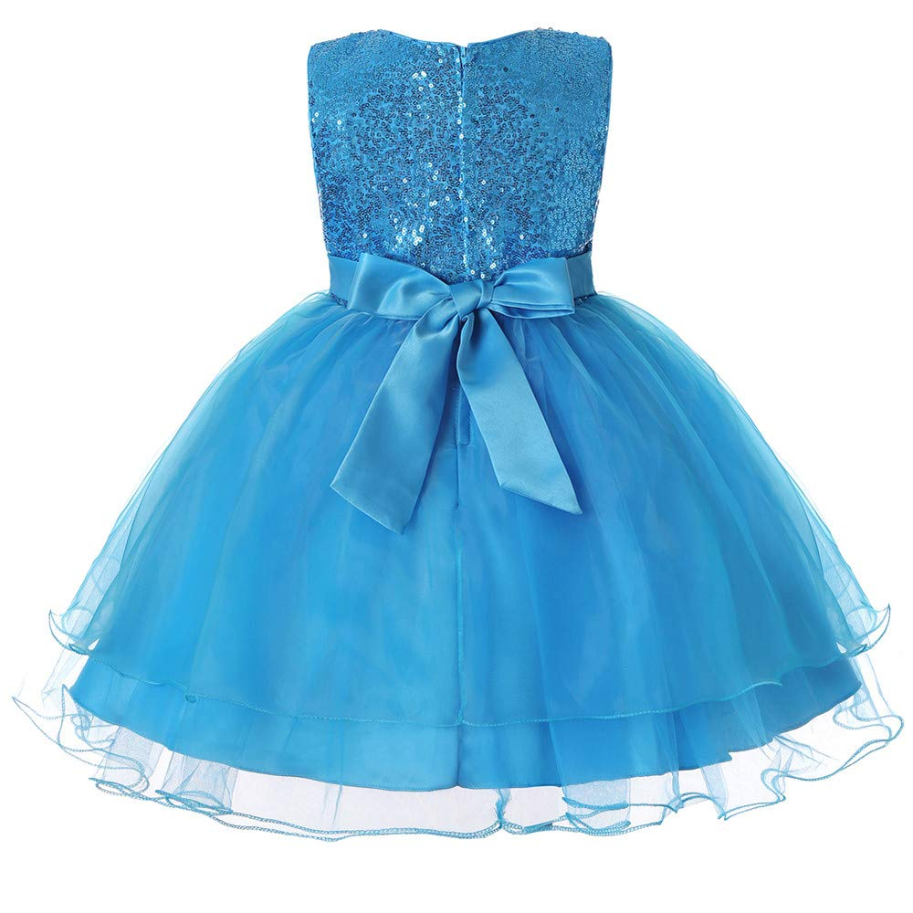 415d4277f Vestido de Noche,BBestseller Verano Niñas Flor de Lentejuelas Cintura  Delgada Boda Princesa Falda Fiesta Cóctel Mini Vestir Pettiskirt