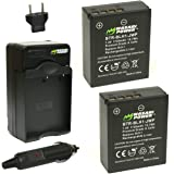 Wasabi Power Olympus BLH-1 Replacement (2 Batteries + Charger)