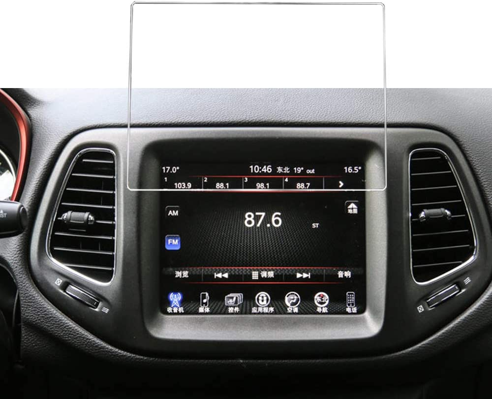 Buennus 20 6 Cm Auto Navigations Bildschirmschutz Für 2014 2019 Jeep Cherokee Grand Cherokee Kompass 16 7 X 4 88 Zoll 168 X 124 Mm Gps Bildschirm Gehärtetes Glas 9h Auto Info Center Touch Cover Navigation