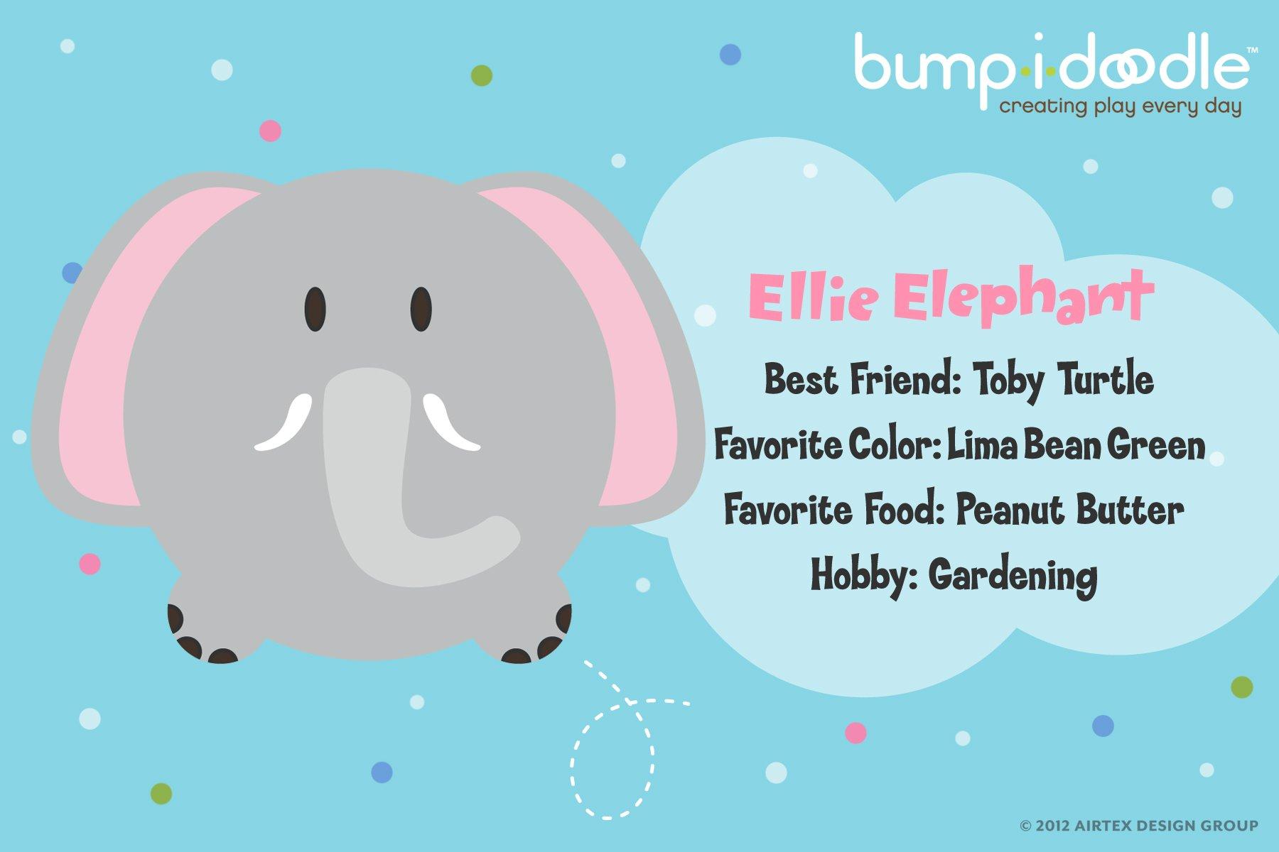 Bumpidoodle Ellie Elephant Bump-i-Doodle Pillow Floor Cushion - 30'' Jumbo Size