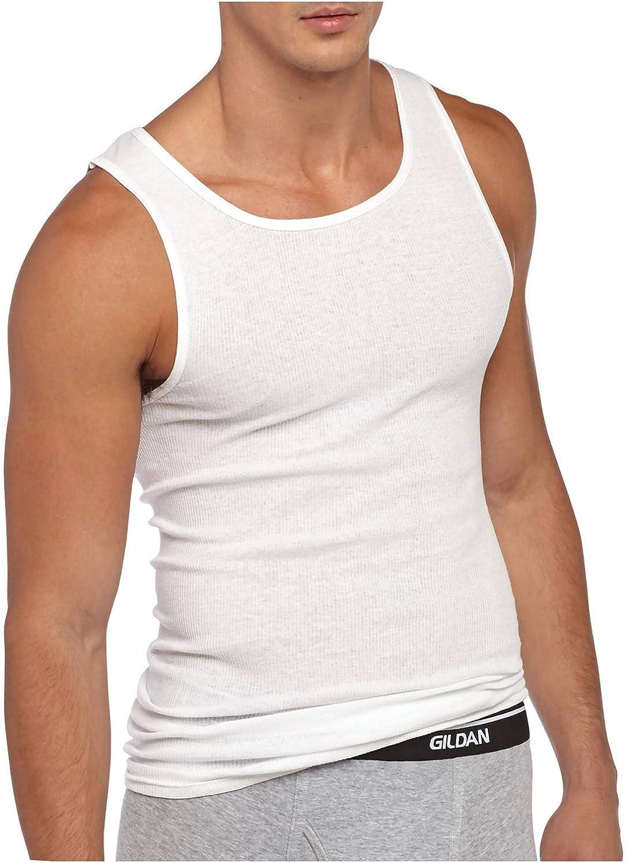 Large Black GILDAN Mens A-Shirts Multipack