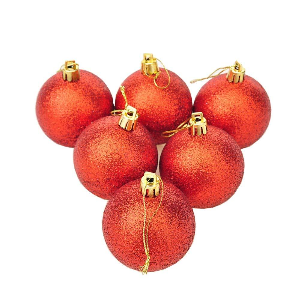 Baulody 2.4 inchChristmas Wreath Ball Ornaments Shatterproof Front Door Window Hanging Christmas Decorations Balls (6cm)