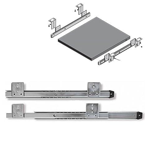 Super Drawer Runners Keyboard Shelf Adjustable Under Desk Computer Slides Silver Home Interior And Landscaping Ologienasavecom